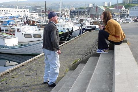 Deense actrice met zeeman